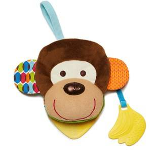 Skip Hop Unisex First toys and baby toys Multi Bandana Buddies Baby Puppetbook Monkey