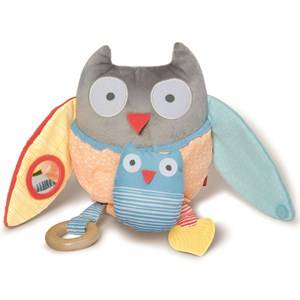 Skip Hop Unisex Norway Assort First toys and baby toys Grey Hug & Hide Treetop Friends Activity Toy Owl