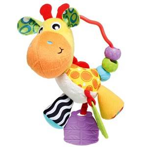 Playgro Unisex Norway Assort First toys and baby toys White Giraffe Activity Rattle