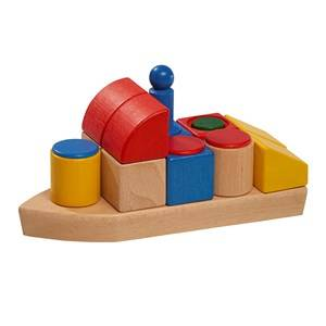 Nic Unisex First toys and baby toys Cubio Wooden Boat