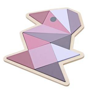 sebra Girls First toys and baby toys Pink Wooden Puzzle Bird Girl