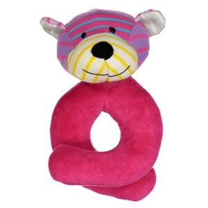 Geggamoja Unisex First toys and baby toys Pink Bear Rattle Mixed Colors Pink