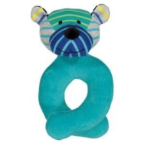 Geggamoja Unisex First toys and baby toys Blue Bear Rattle Mixed Colors