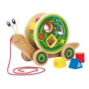 Hape Unisex First toys and baby toys Green Walk-A-Long Snail