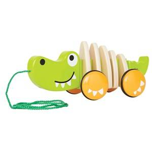 Hape Unisex First toys and baby toys Green Walk-A-Long Crocodile