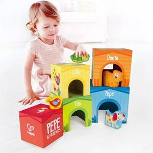 Hape Unisex First toys and baby toys Green Stacking Tower