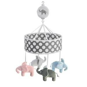 Elephant Unisex First toys and baby toys Grey Musical Mobile Elephant Grey