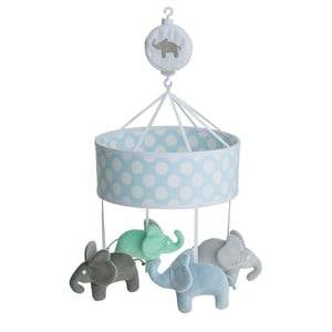 Elephant Boys First toys and baby toys Blue Musical Mobile Elephant Light Blue