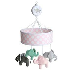 Elephant Girls First toys and baby toys Pink Musical Mobile Elephant Pink