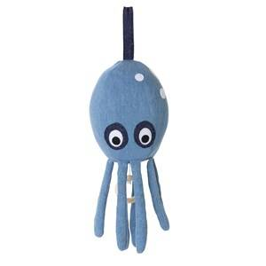 ferm LIVING Unisex First toys and baby toys Blue Octopus Music Mobile - Denim