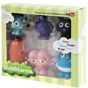 Babblarna Unisex First toys and baby toys Multi Plastfigurer, GS Mix, 6-Pack, 7-10 cm