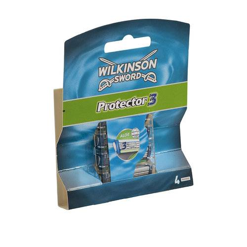 Wilkinson Sword Protector 3 system blades (4 pc Pack)