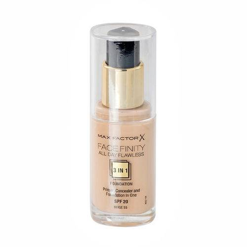 Max Factor Face Finity All Day Flawless 3 in 1 Foundation 55 Beige 30 ml