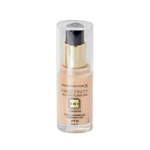 Max Factor Face Finity All Day Flawless 3 in 1 Foundation 47 Nude 30 ml