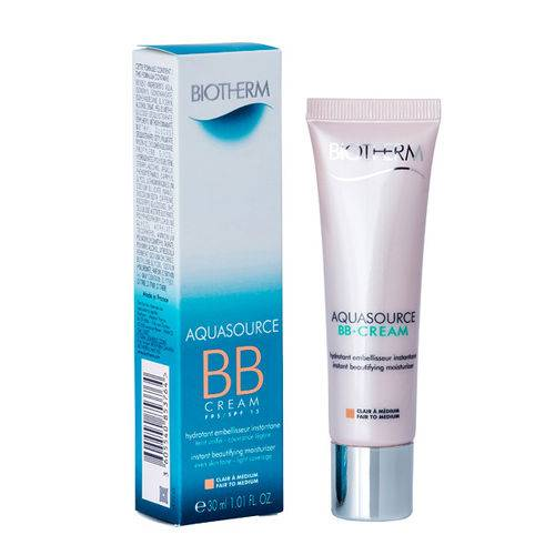 Biotherm Aquasource BB Cream Fair to Medium SPF15 Sensitive Skin (30ml)