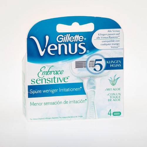 Gillette Venus Embrace sensitive blades 4 piece
