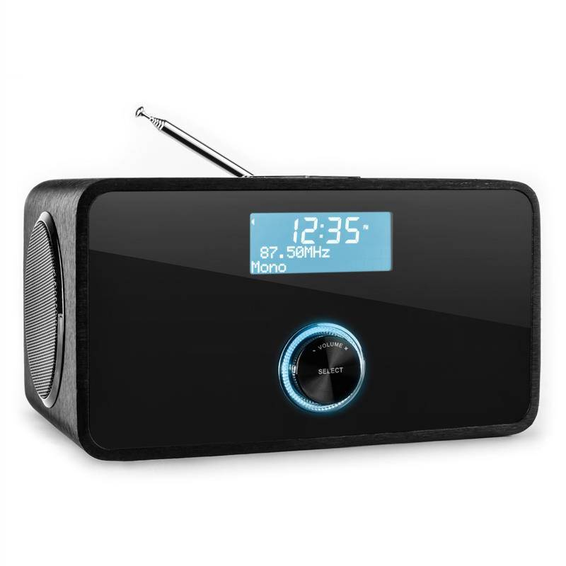 Auna DABStep DAB/DAB+ digitaalinen radio Bluetooth FM RDS herätyskello