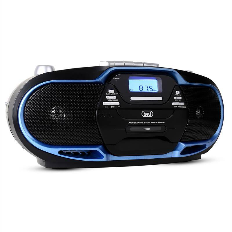Trevi CMP-574 Boombox CD MP3 USB kasettisoitin AM/FM-radio-sininen