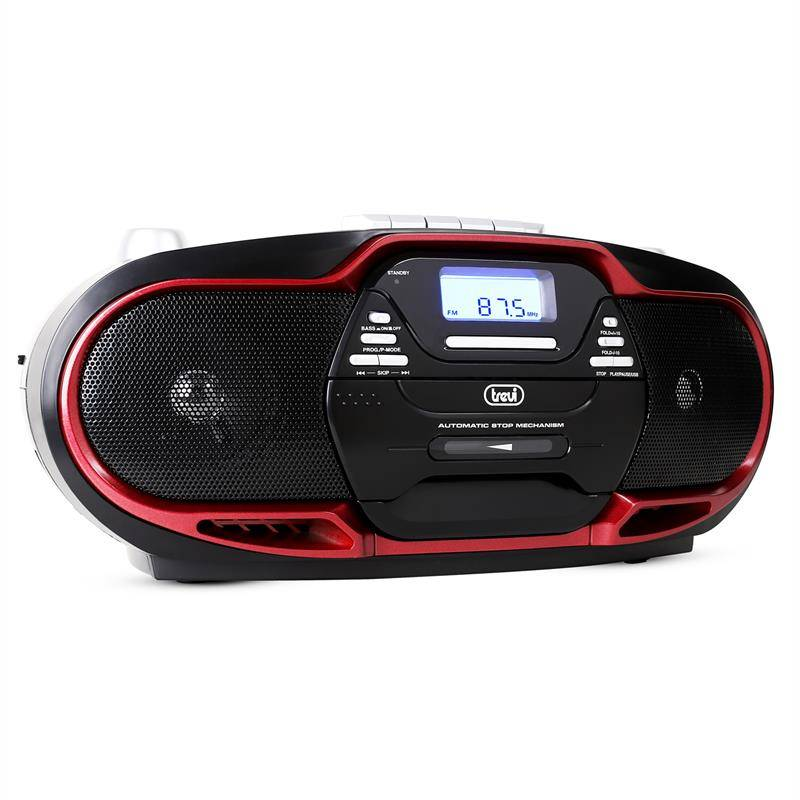 Trevi CMP-574 mankka CD MP3 USB kasettisoitin AM/FM-radio punainen