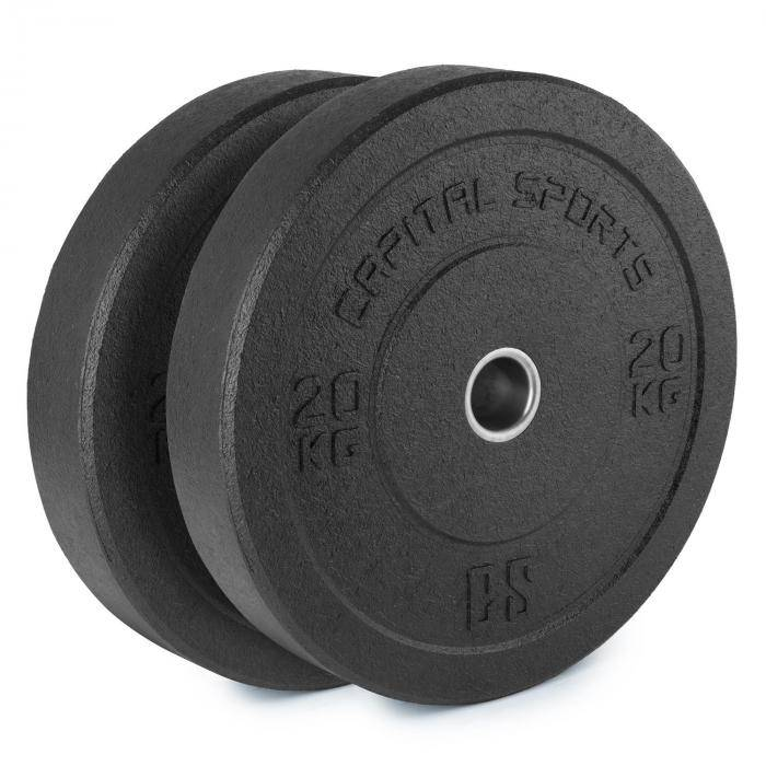 CAPITAL SPORTS Renit Hi Temp levypainot 50,4 mm alumiinisisus kumia 2 x 20 kg
