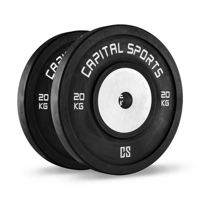 Capital Sports Inval Hi grade Competition levypainot 50 mm alumiinisisus 2 x 20 kg