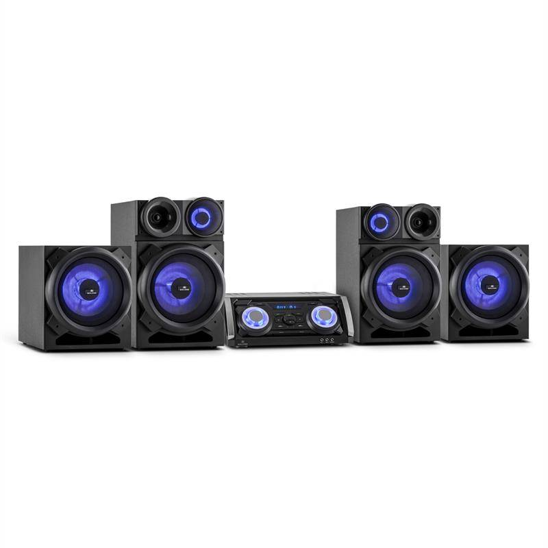 Malone Mega Party all-in-one-party-PA-system 720W Bluetooth DVD HDMI USB