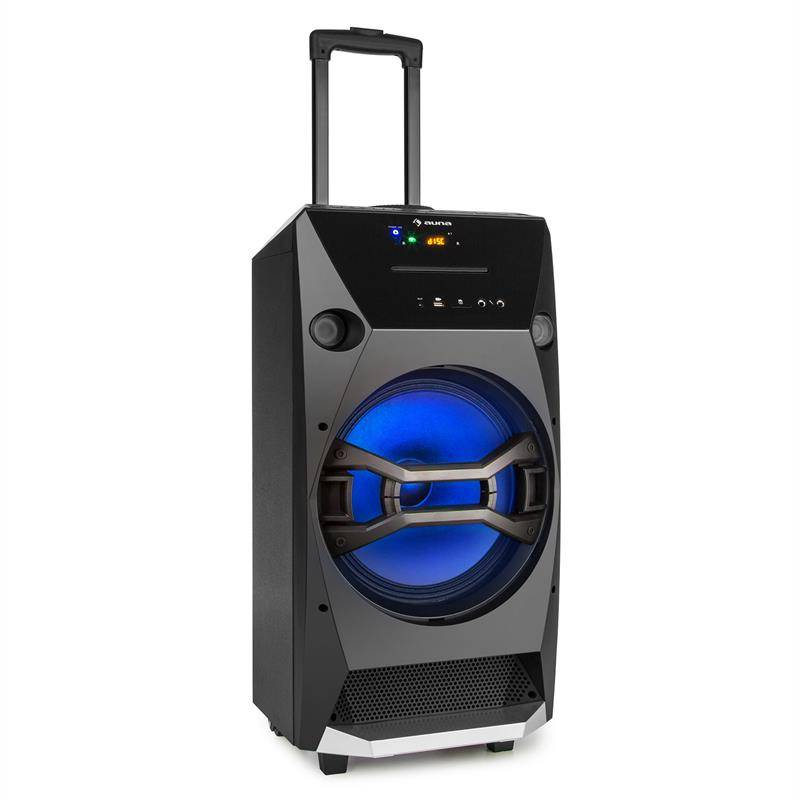 auna Brooklyn Beat kannettava party-kaiutin 100 W RMS bluetooth USB SD CD FM LED