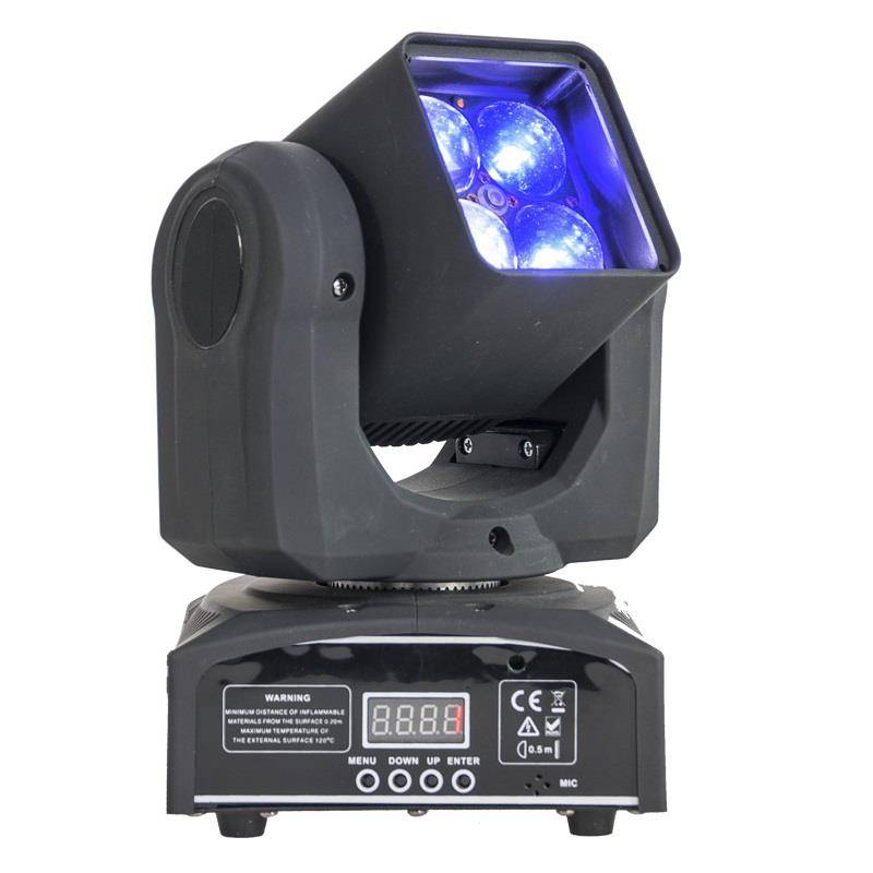 ibiza LMH410Z moving head 4 x 4 in 1 RGBW-LED-valot 10 W zoomaus DMX LED