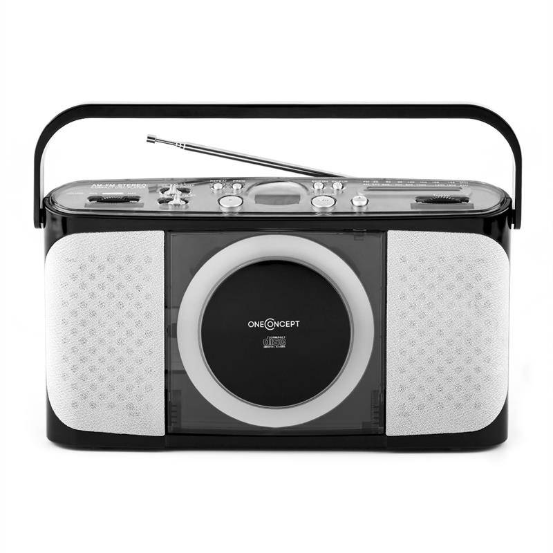 oneConcept Boomtown-Beach kannettava CD-soitin MP3 USB radio