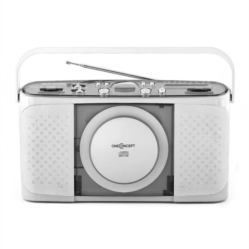 oneConcept Boomtown-Garden kannettava CD-soitin MP3 USB radio