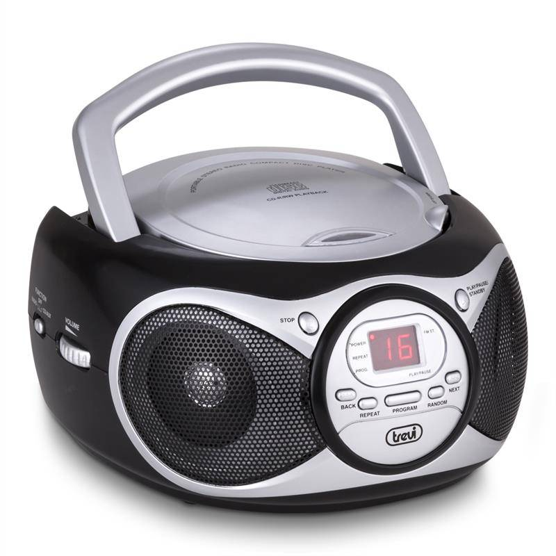 Trevi CD 512 CD-soitin MP3 AM/FM-radio AUX musta