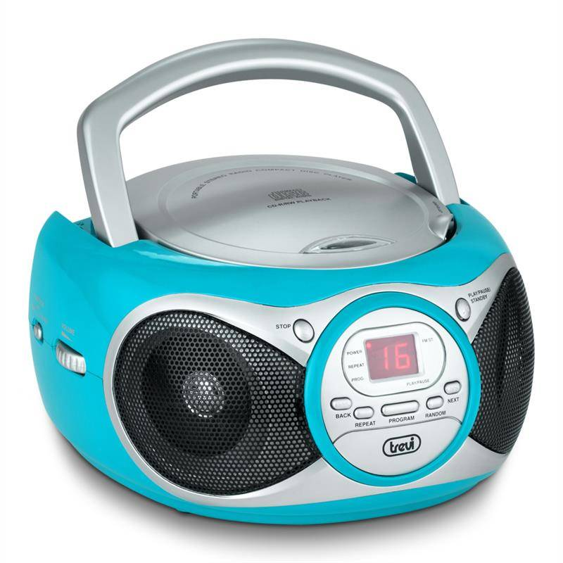 Trevi CD 512 CD-soitin MP3 AM/FM-radio AUX turkoosi