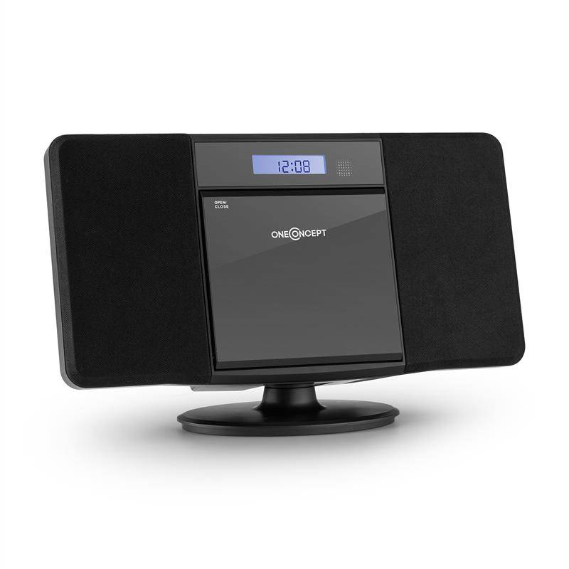 oneConcept V-13 BT stereolaite CD MP3 USB Bluetooth radio seinäasennus