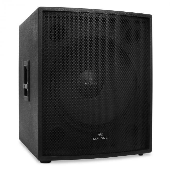 "Malone Passiivinen PA-subwoofer 46cm (18"") Malone 1250W RMS-teho"