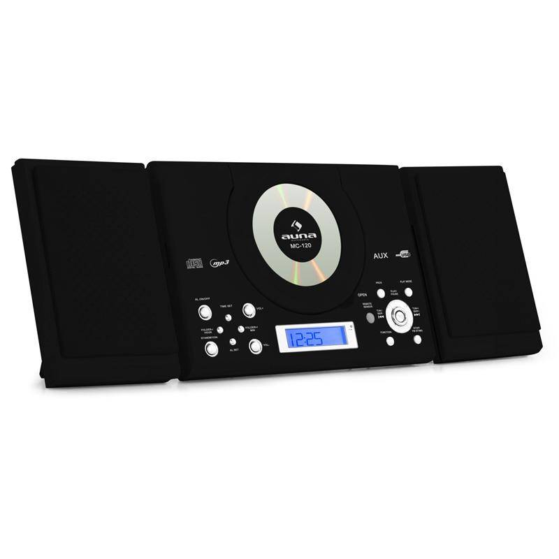Auna MC-120 Stereolaite MP3-CD-soitin USB seinäasennus