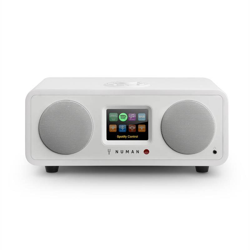 NUMAN One – 2.1 design internet radio 20W bluetooth Spotify connect DAB+ valkoinen