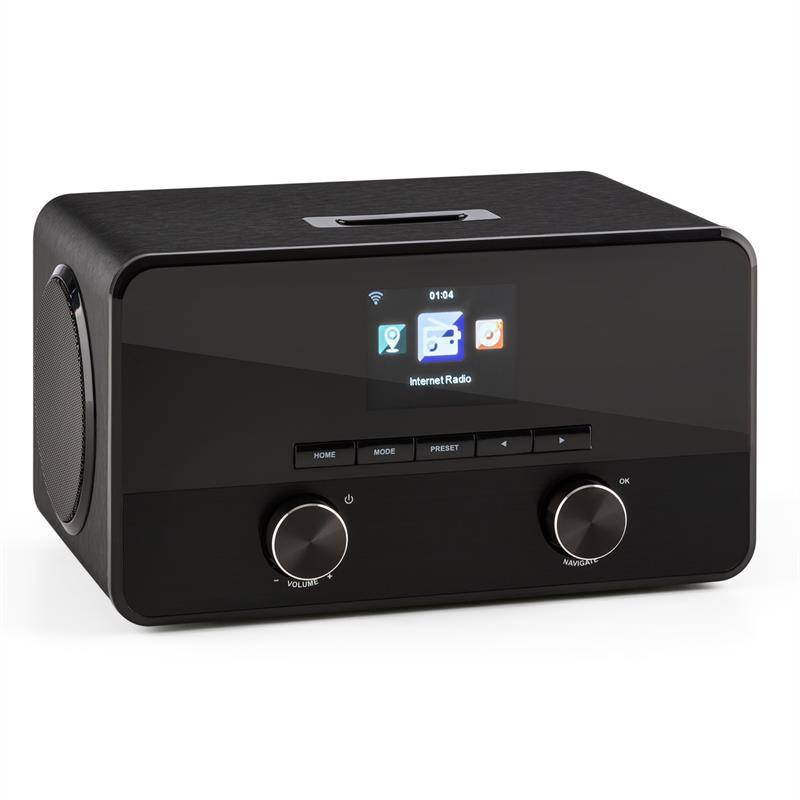 auna Connect 100 internetradio mediasoitin bluetooth WLAN USB AUX line out