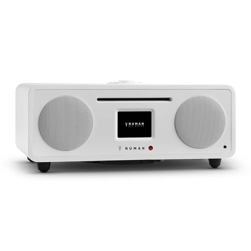 NUMAN Two – 2.1 internetradio CD 30W USB Bluetooth Spotify Connect DAB+ valkoinen