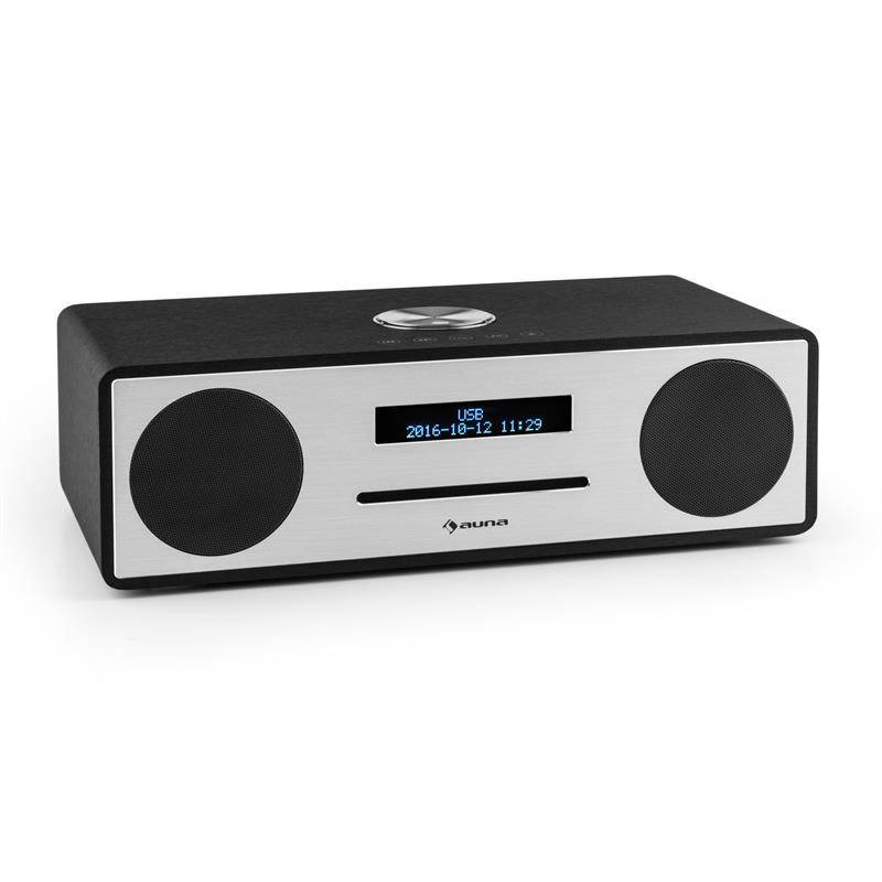auna Stanford DAB-CD-radio DAB+ bluetooth USB MP3 AUX UKW musta