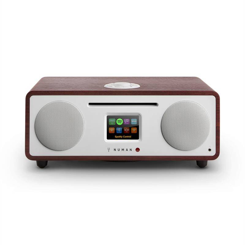 NUMAN Two – 2.1 design internetradio CD 30 W bluetooth Spotify Connect wenge