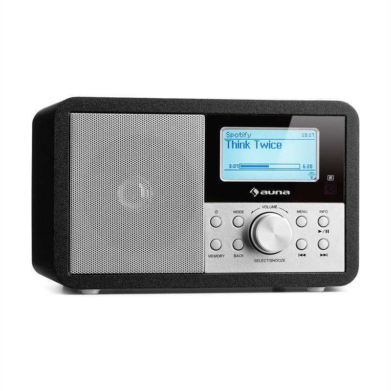 auna Worldwide Mini internetradio WLAN verkkosoitin USB MP3 AUX FM-radio