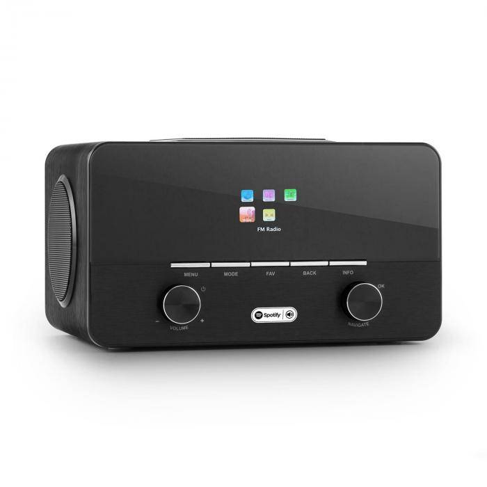 Auna Connect 150 BK 2.1-internetradio mediasoitin WLAN LAN USB DAB+ FM