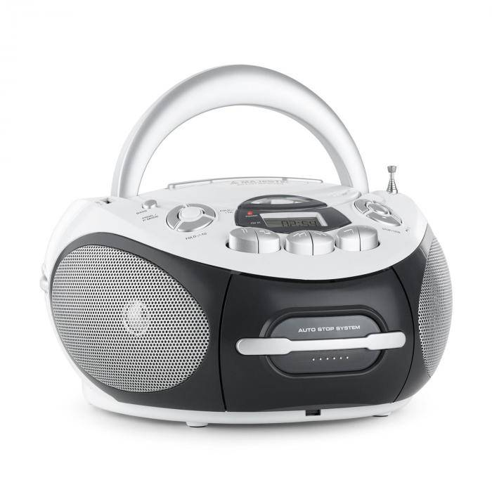 Majestic AH-2387 WH Boom Box radio tallennin MP3 USB CD UKW