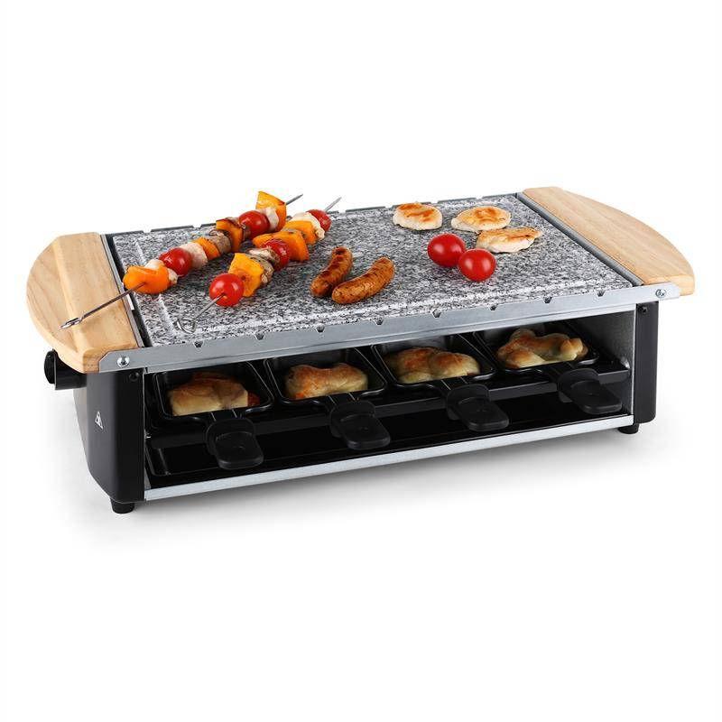 Klarstein Chateaubriand Raclette-grilli luonnonkivilevy 1200W