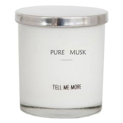 Tell Me More Soy Wax tuoksukynttilä, pure musk