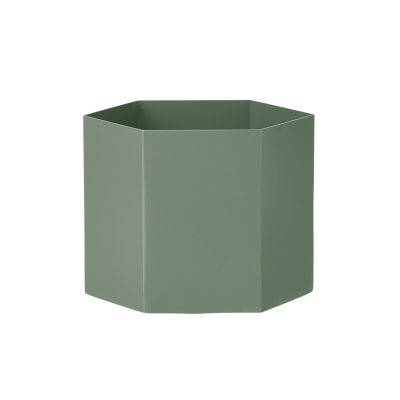 Ferm Living Hexagon ruukku XL, dusty green