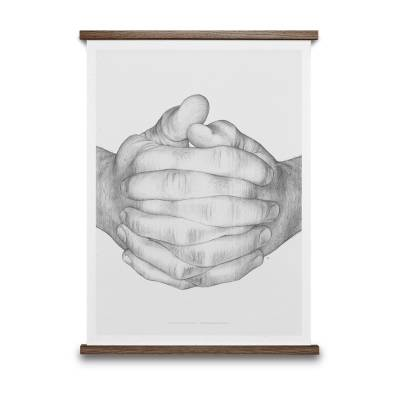 Paper Collective Folded Hands, harmaa