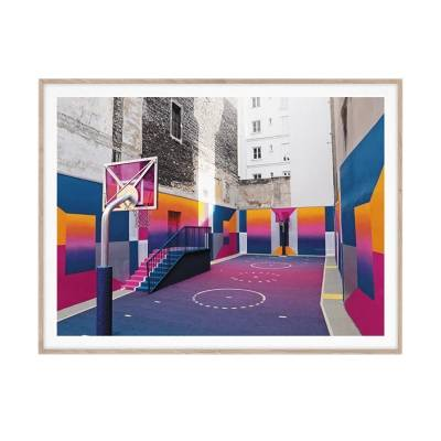 Paper Collective Cities of Basketball 08 Paris, 30x40