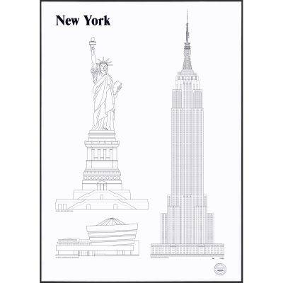 Studio Esinam New York Landmarks juliste