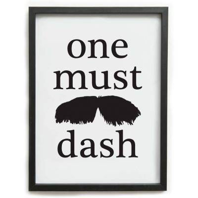 One Must Dash Tata juliste
